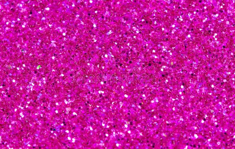 Hete Roze Abstracte Achtergrond Het roze schittert close-upfoto Roze flikkerings verpakkend document royalty-vrije stock afbeeldingen