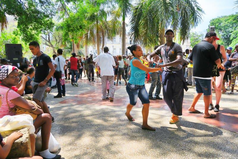 Hete salsa in heet Havana, Cuba royalty-vrije stock foto