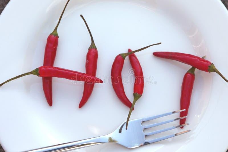 Hete Spaanse peper royalty-vrije stock afbeelding