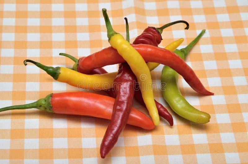 Hete Spaanse peperspeper stock foto
