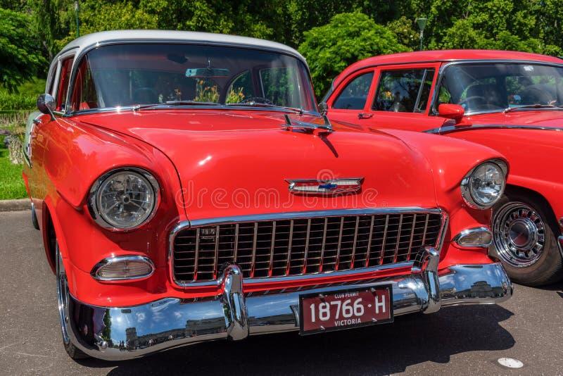 Hete staaf rood Chevrolet 3 stock fotografie