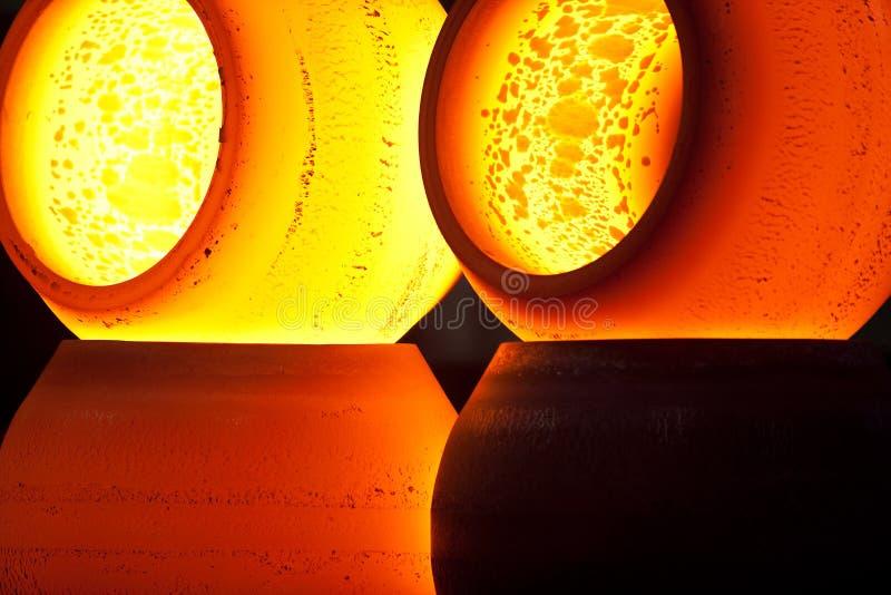 Hete staalgebieden royalty-vrije stock afbeelding