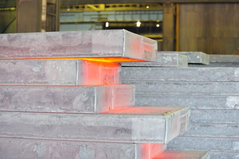 Hete staalstapel royalty-vrije stock afbeeldingen