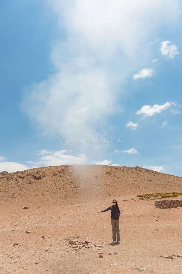 Hete stoom in Sol de Manana royalty-vrije stock foto's