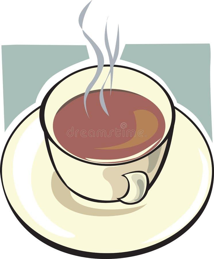 Hete thee in de kop stock illustratie