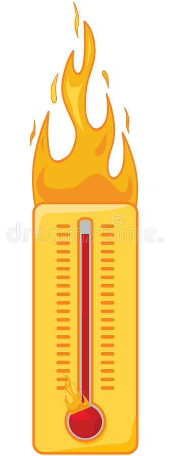 Hete thermometer vector illustratie