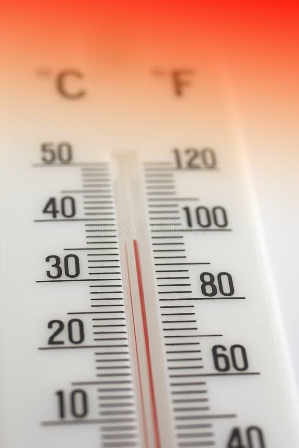 Hete thermometer royalty-vrije stock afbeeldingen