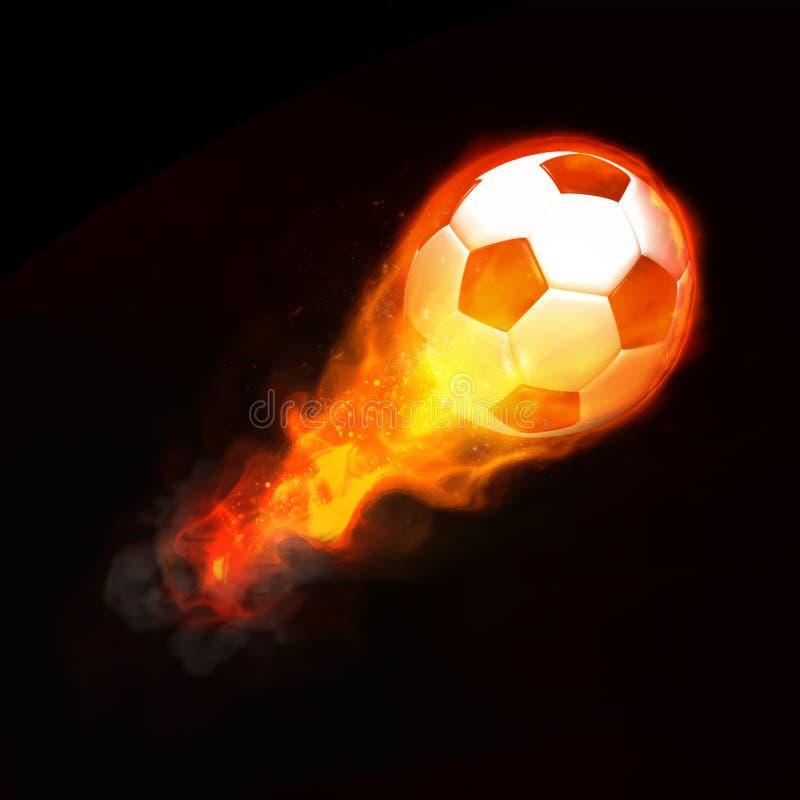 Hete voetbalbal stock afbeeldingen