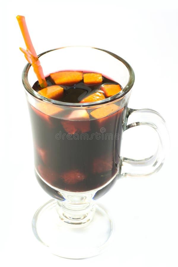 Hete wijn met sinaasappelen royalty-vrije stock foto