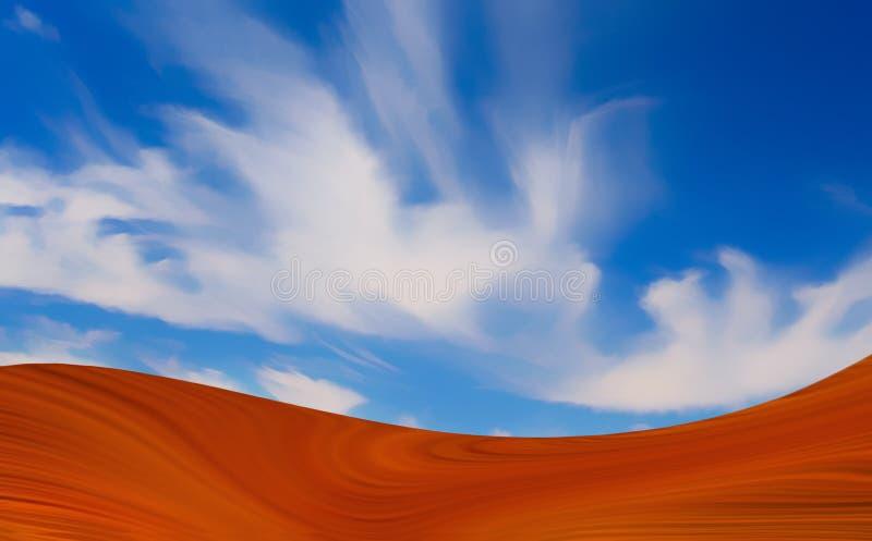 Hete woestijn royalty-vrije illustratie