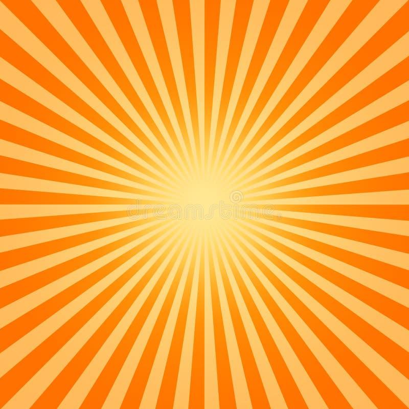 Hete zon vector illustratie