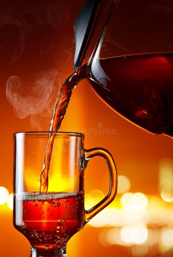 Hete zwarte thee royalty-vrije stock foto