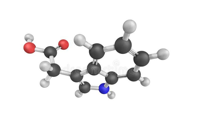 Heteroauxin, ook als indool-3-Azijnzuur wordt bekend, is meeste Com die royalty-vrije stock afbeelding