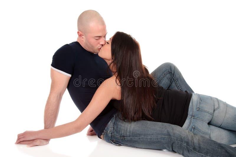 Heterosexual loving couple stock images
