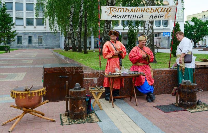 Hetman-Minze an populäres jährliches Festival slawischem Basar, Vitebsk, Weißrussland lizenzfreies stockfoto