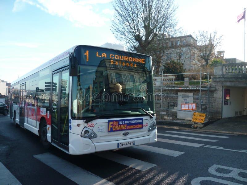 Heuliez GX337 n°522 Stga - Angoulême (16) στοκ εικόνες με δικαίωμα ελεύθερης χρήσης