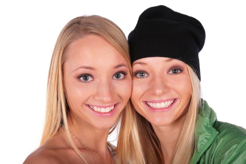 Heup-hop en mooie gezichtenclose-up stock fotografie