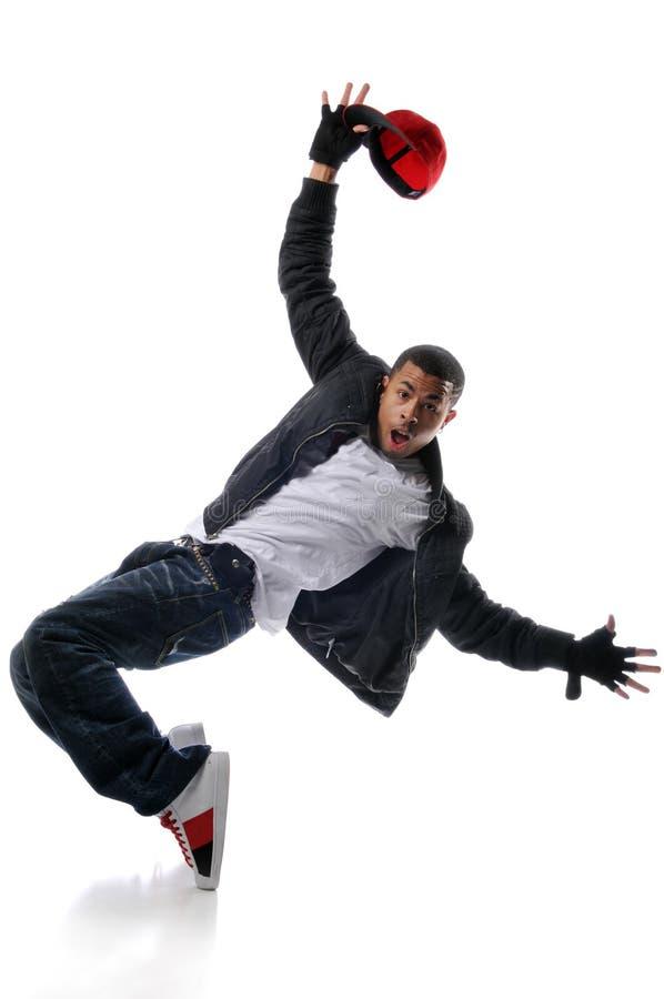 Heup-hop stijldanser stock afbeeldingen