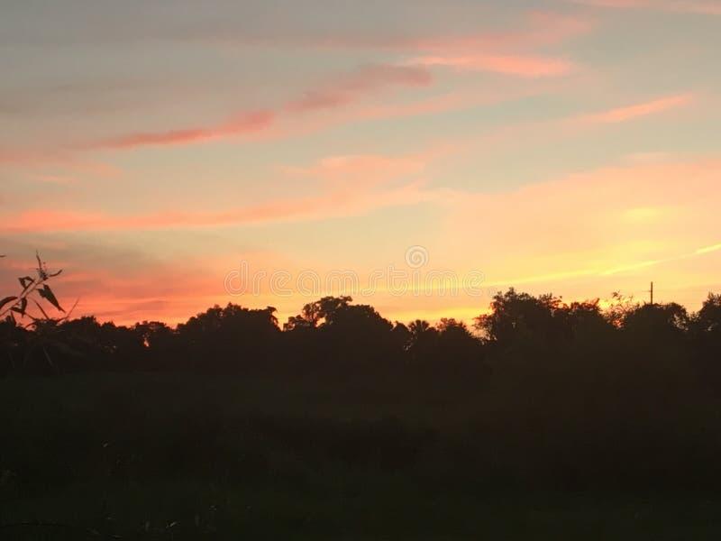 Heure d'été de coucher du soleil de la Floride photographie stock