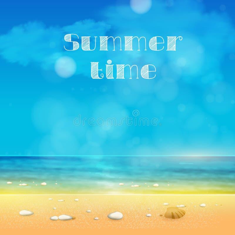 Heure d'été, fond d'été illustration de vecteur