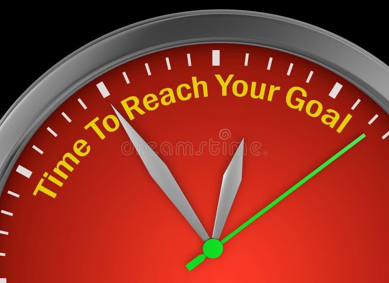 Heure d'atteindre votre but illustration libre de droits
