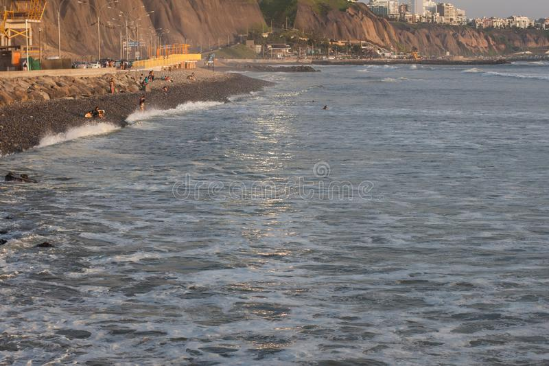 Heure d'or chez Costa Verde photographie stock