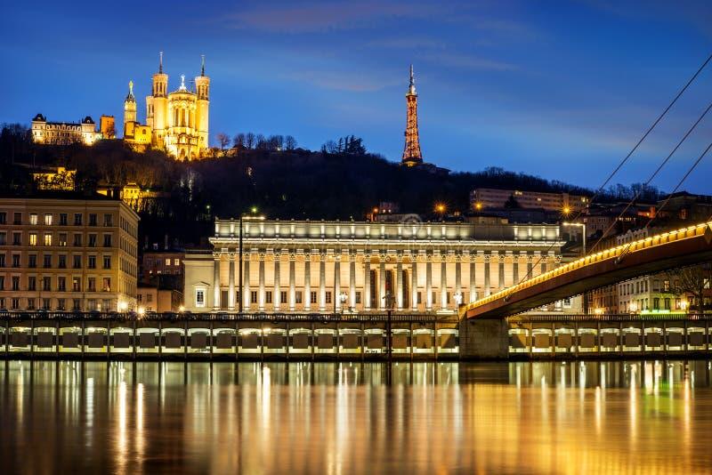 Heure de bleu de Lyon images libres de droits