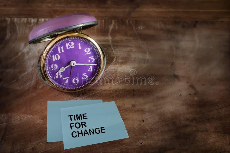 Heure de changer photos stock