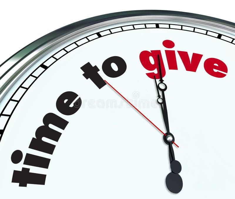 Heure de donner - l'horloge fleurie illustration libre de droits
