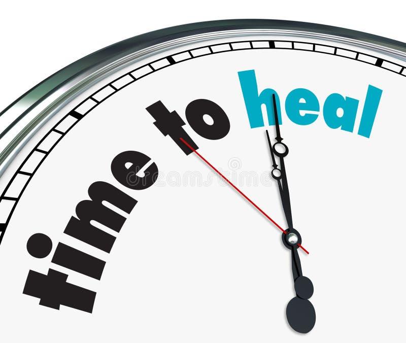 Heure de guérir - l'horloge fleurie illustration libre de droits