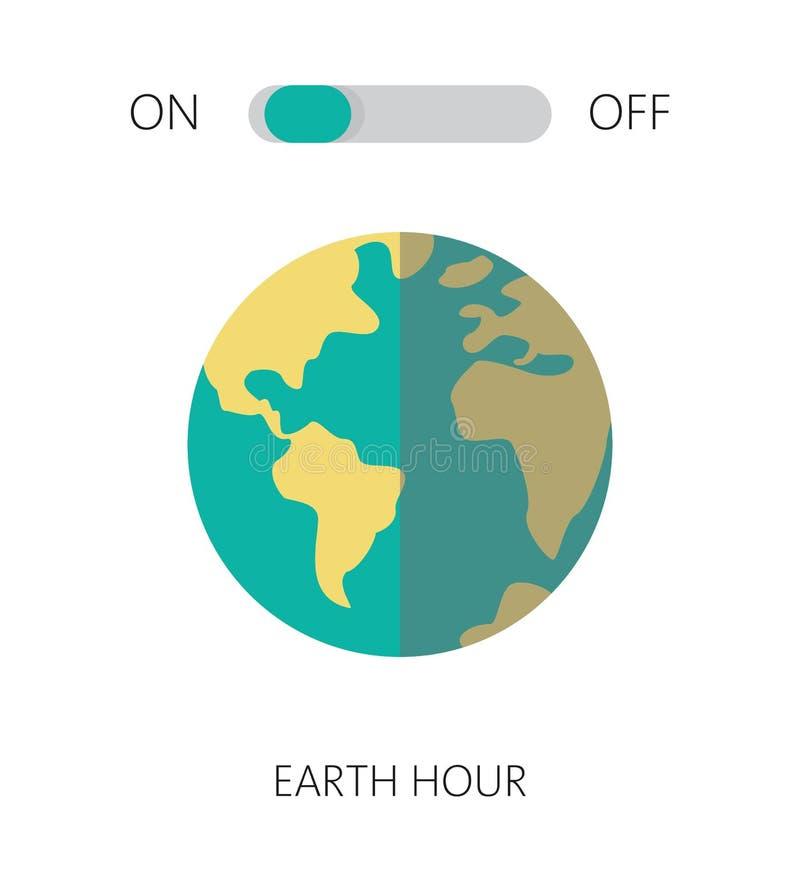 Heure de la terre, notre plan?te, concept d'?cologie illustration stock