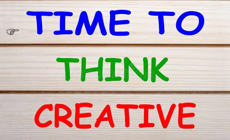 Heure de penser créatif image stock