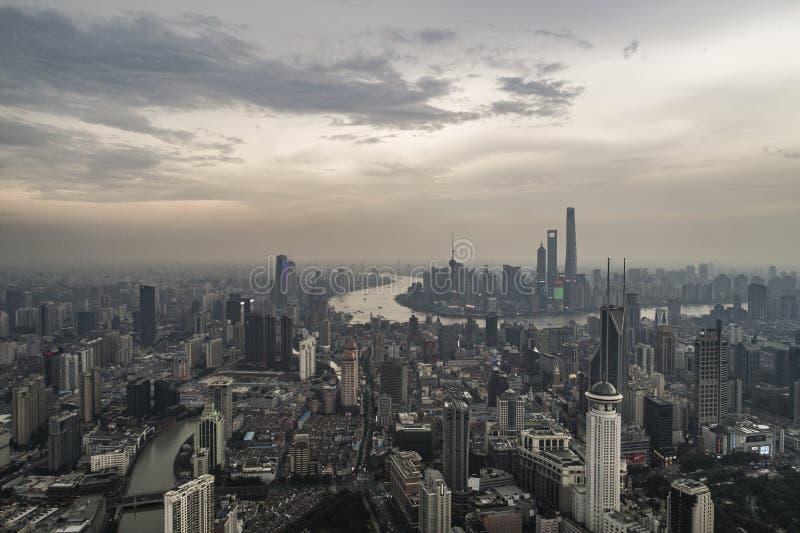 Heure de pointe à Changhaï photos libres de droits