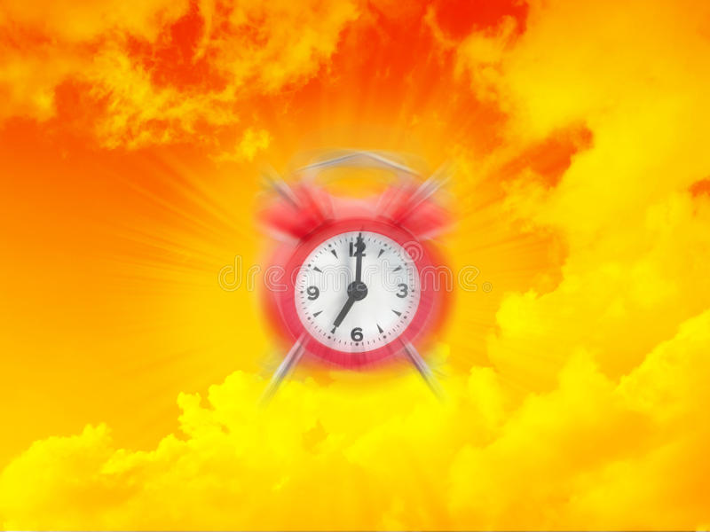 Heure de réveiller l'horloge d'alarme photo libre de droits