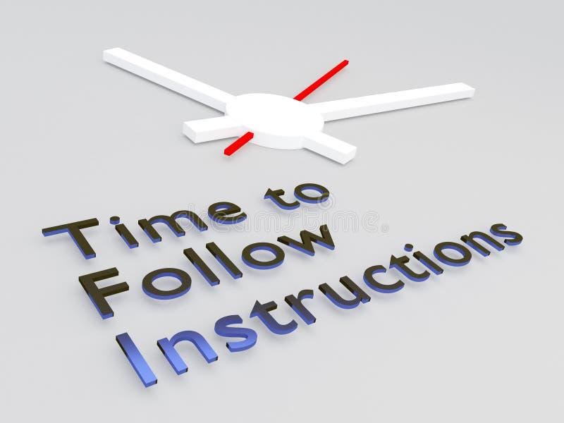 Heure de suivre le concept d'instructions illustration libre de droits