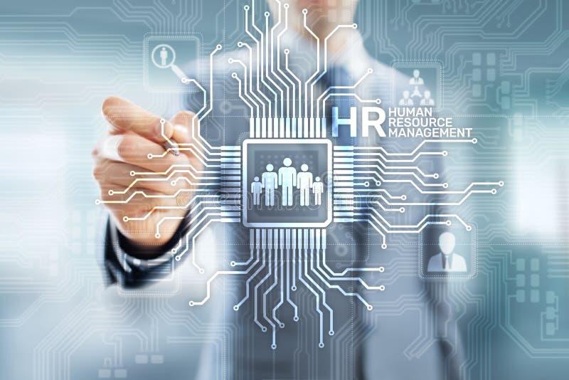 Heure - Gestion de ressources humaines, infrastructure de recrutement, de Team Building, d'organisation et relations sociales illustration de vecteur