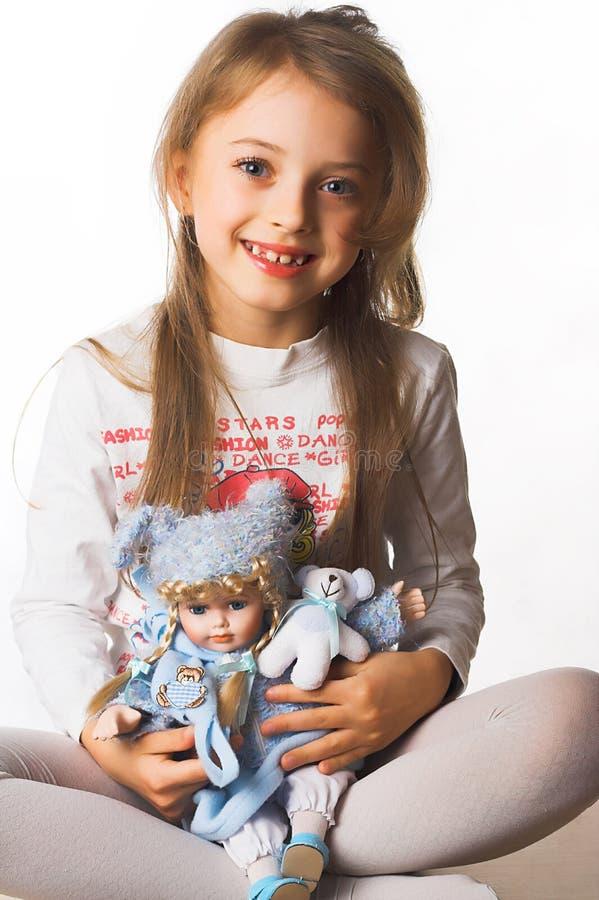 Heure heureuse pour la petite fille photographie stock