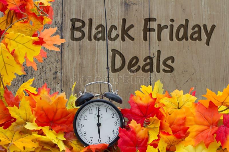 Heure pour des affaires d'achats de Black Friday photo libre de droits