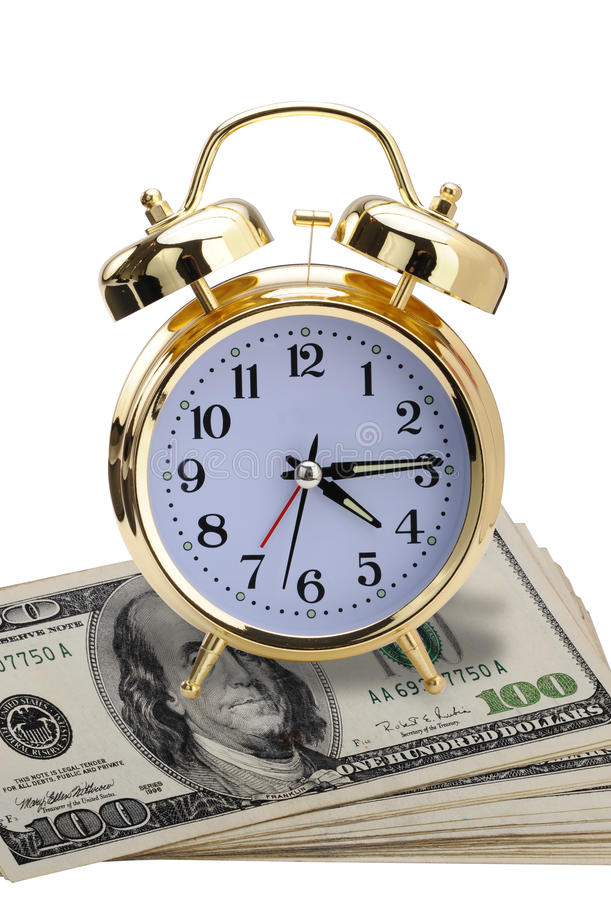 Heure pour l'argent. images libres de droits