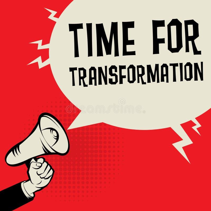 Heure pour la transformation illustration de vecteur
