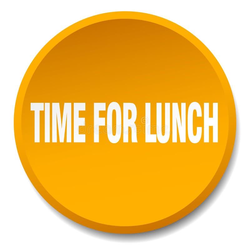 heure pour le bouton de déjeuner illustration stock