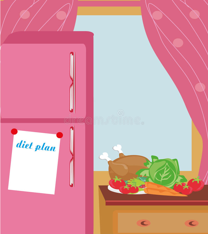 Heure pour le dîner Planification de séance d'entraînement illustration libre de droits