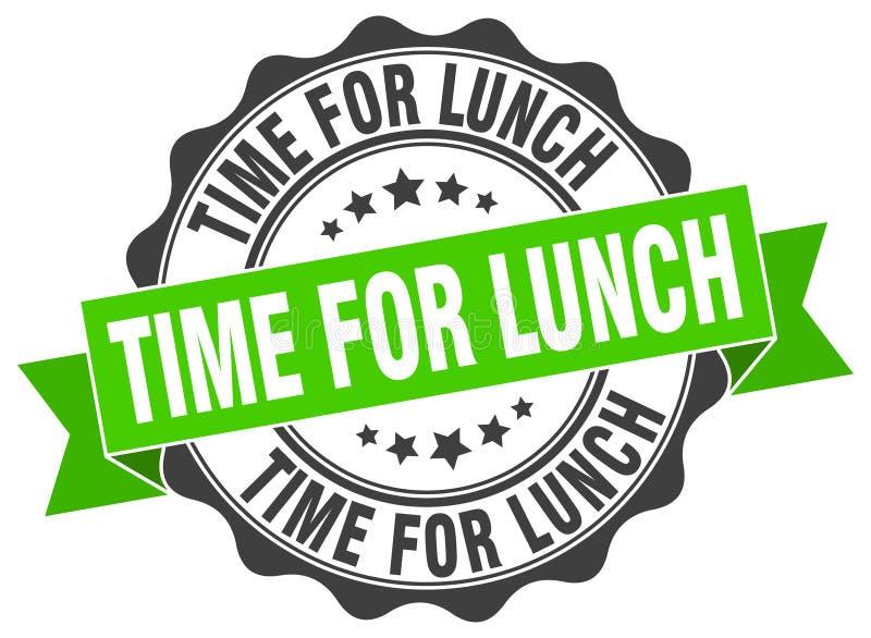 heure pour le joint de déjeuner estampille illustration stock