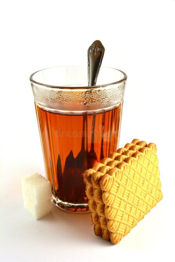 Heure pour le thé et les biscuits images libres de droits