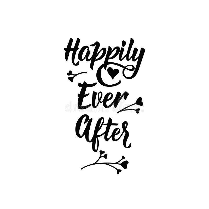 Heureusement toujours ensuite Signe imprimable positif lettrage Illustration de vecteur de calligraphie illustration de vecteur