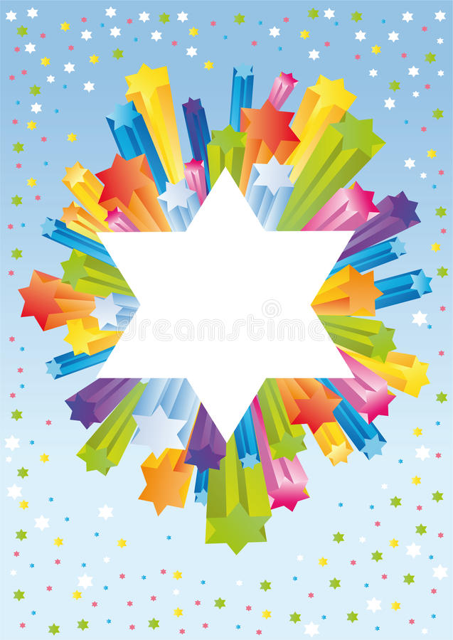 heureuses vacances de fond juives à illustration libre de droits