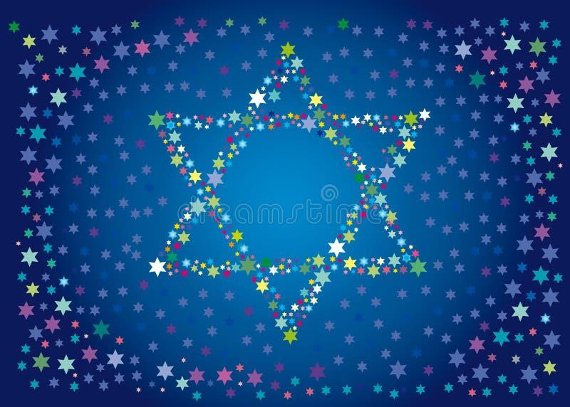 heureuses vacances de fond juives à illustration de vecteur