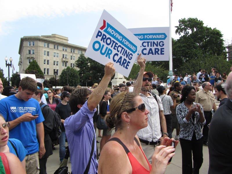 Heureux avec Obamacare photographie stock libre de droits