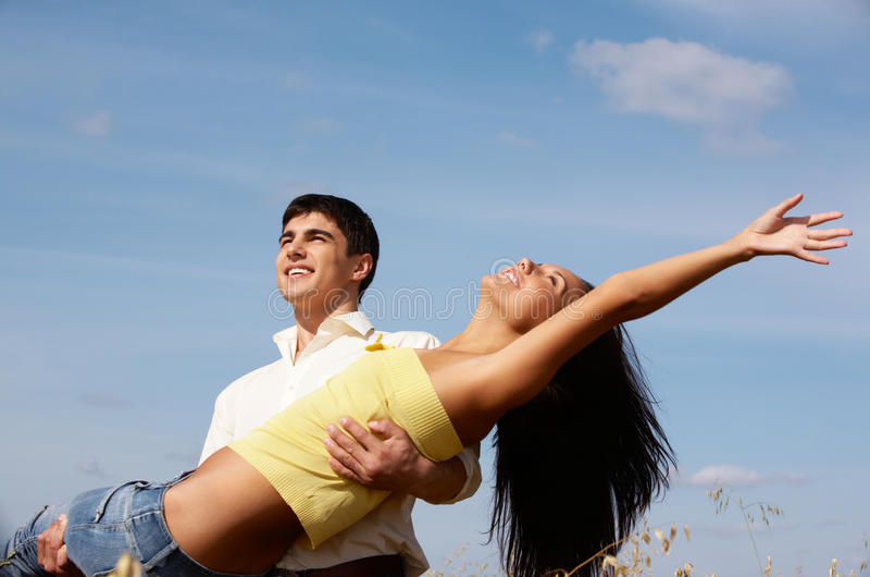 Heureux couples photos libres de droits