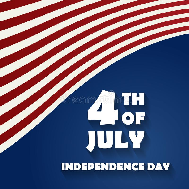 Heureux le 4ème juillet - Jour de la Déclaration d'Indépendance des Etats-Unis d'Amérique illustration libre de droits